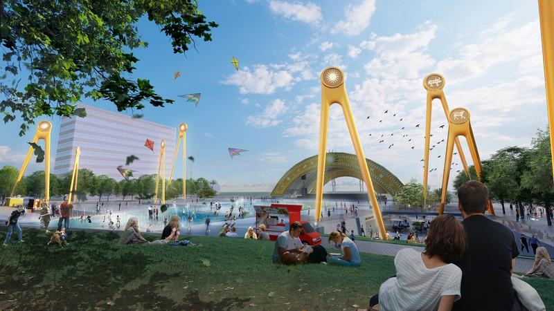 """Quảng trường biển và trục đại lộ trung tâm tại Sun Grand Boulevard sẽ biến Sầm Sơn thành """"thành phố không ngủ""""."""